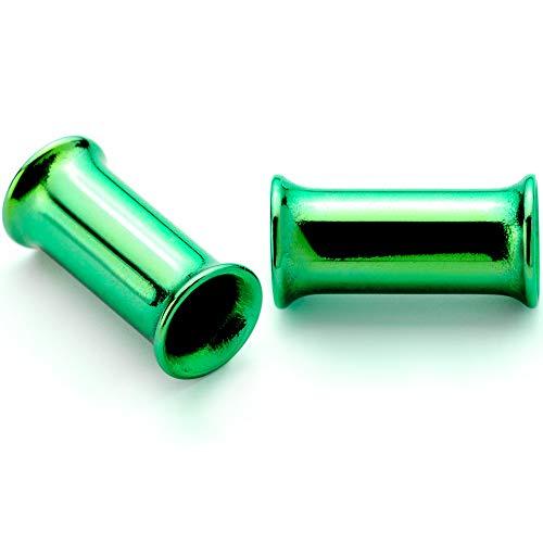 ボディキャンディー ボディピアス アメリカ 日本未発売 ウォレット Body Candy 2Pc Green Anodized Steel 4mm Double Flare Tunnel Ear Gauge Plugs Set of 2 6 Gaugeボディキャンディー ボディピアス アメリカ 日本未発売 ウォレット