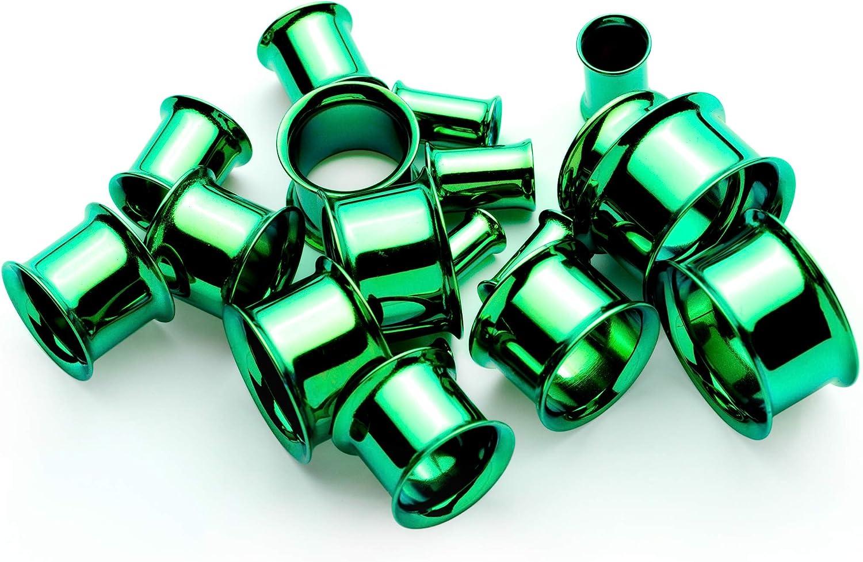 ボディキャンディー ボディピアス アメリカ 日本未発売 ウォレット送料無料 Body Candy 2Pc Green Anodized Steel 6mm Double Flare Tunnel Ear Gauge Plugs Set of 2 2 Gaugeボディキャンディー ボディピアス アメリカ 日本未発売 ウォレットeCBdxo