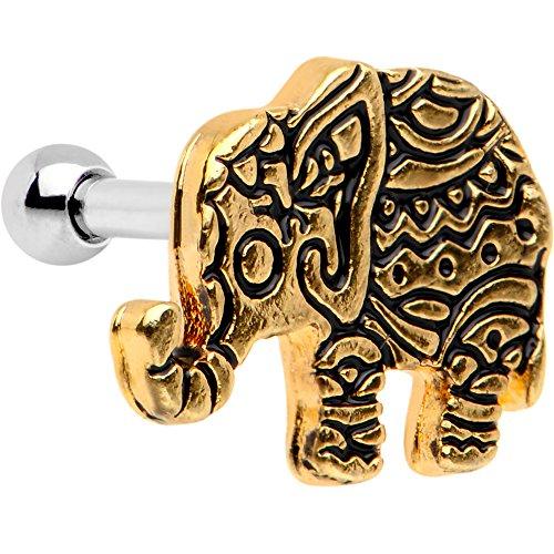 ボディキャンディー ボディピアス アメリカ 日本未発売 ウォレット 【送料無料】Body Candy Stainless Steel Sunny Boho Elephant Tragus Cartilage Earring 16 Gauge 1/4