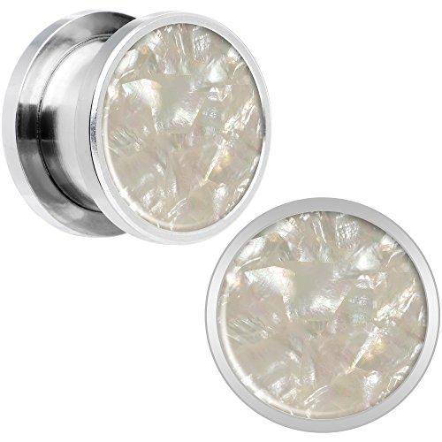 ボディキャンディー ボディピアス アメリカ 日本未発売 ウォレット Body Candy Stainless Steel Iridescent Inlay Screw Fit Ear Gauge Plug Pair 1/2