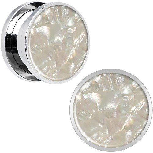 ボディキャンディー ボディピアス アメリカ 日本未発売 ウォレット Body Candy Stainless Steel Iridescent Inlay Screw Fit Ear Gauge Plug Pair 5/8