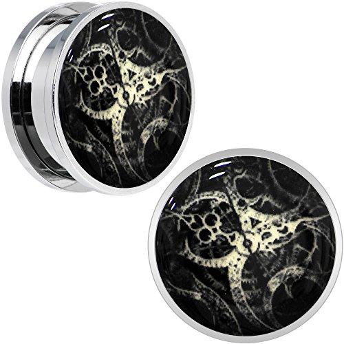 ボディキャンディー ボディピアス アメリカ 日本未発売 ウォレット Body Candy Stainless Steel Steampunk Gears Glow in The Dark Screw Fit Ear Gauge Plug Pair 20mmボディキャンディー ボディピアス アメリカ 日本未発売 ウォレット