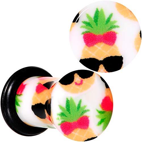 ボディキャンディー ボディピアス アメリカ 日本未発売 ウォレット 【送料無料】Body Candy 2G 2Pc Ear Plugs White Acrylic Cool Pineapple Single Flare Ear Plug Gauges Set of 2 6mmボディキャンディー ボディピアス アメリカ 日本未発売 ウォレット