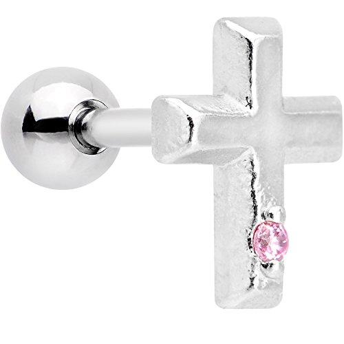 ボディキャンディー ボディピアス アメリカ 日本未発売 ウォレット 【送料無料】Body Candy Steel Pink Accent Delicate Cross Tragus Cartilage Earring 16 Gauge 1/4