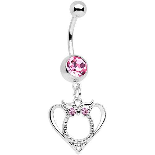 ボディキャンディー ボディピアス アメリカ 日本未発売 ウォレット 【送料無料】Body Candy 14G 316L Stainless Steel Navel Ring Piercing Pink Valentines Owl Belly Button Ring 11mmボディキャンディー ボディピアス アメリカ 日本未発売 ウォレット