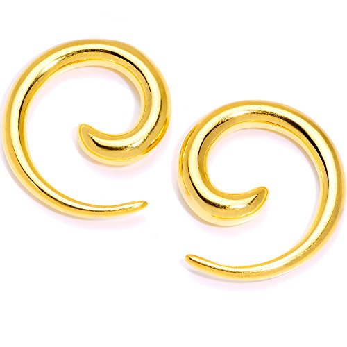 ボディキャンディー ボディピアス アメリカ 日本未発売 ウォレット 【送料無料】Body Candy 2Pc 6 Gauge Anodized Titanium 316L Steel Micro Spiral Taper Set Tapered Ear Gauges Ear Stretchiボディキャンディー ボディピアス アメリカ 日本未発売 ウォレット