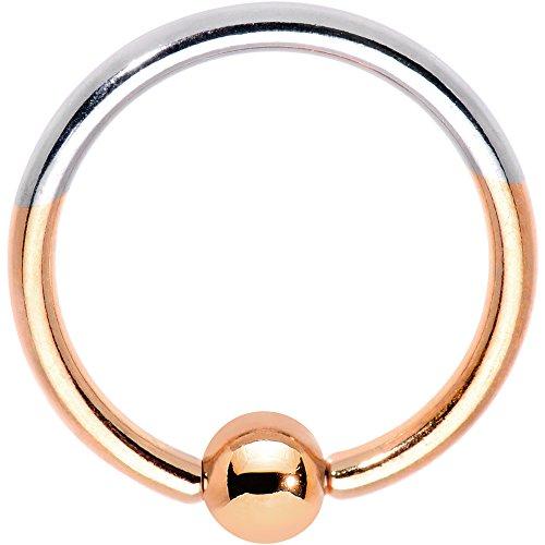 ボディキャンディー ボディピアス アメリカ 日本未発売 ウォレット 【送料無料】Body Candy 16G Rose Anodized Titanium Steel Captive Bead Ring Two Tone BCR Septum Lip 10mmボディキャンディー ボディピアス アメリカ 日本未発売 ウォレット