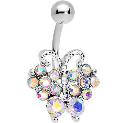 ボディキャンディー ボディピアス アメリカ 日本未発売 ウォレット 【送料無料】Body Candy Steel Aurora Accent Butterfly Bliss Belly Button Ringボディキャンディー ボディピアス アメリカ 日本未発売 ウォレット