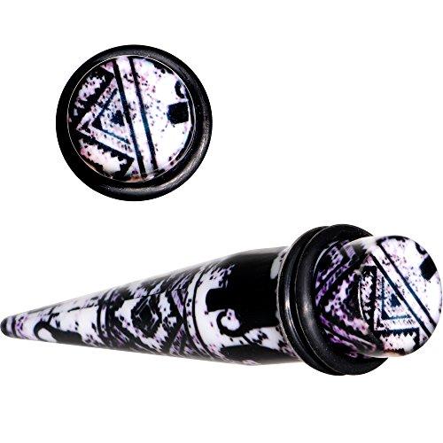 ボディキャンディー ボディピアス アメリカ 日本未発売 ウォレット 【送料無料】Body Candy Black Acrylic Southwest Weave Straight Taper Set of 2 1/2