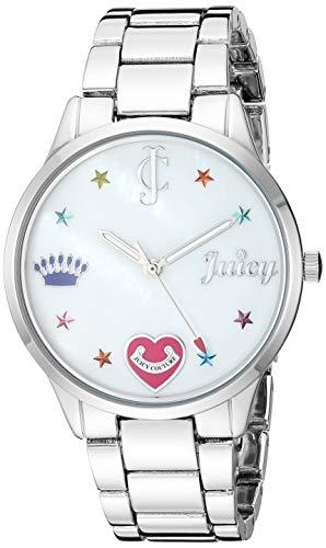 ジューシークチュール レディース 【送料無料】Juicy Couture Black Label Women's Swarovski Crystal Accented Silver-Tone Bracelet Watchジューシークチュール レディース