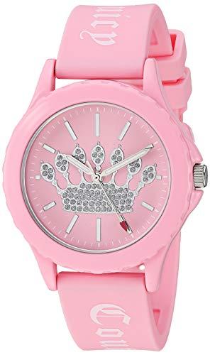 ジューシークチュール レディース 【送料無料】Juicy Couture Black Label Women's Glitter Accented Light Pink Silicone Strap Watchジューシークチュール レディース