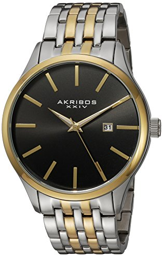 アクリボスXXIV 腕時計 メンズ 【送料無料】Akribos XXIV Men's Radiant Sunray Dial Watch - Accented Dial With Date Window On Stainless Steel Bracelet - AK941アクリボスXXIV 腕時計 メンズ