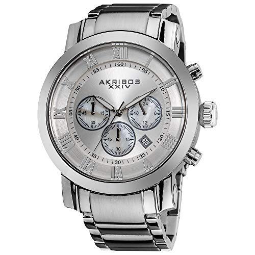 アクリボスXXIV 腕時計 メンズ Akribos XXIV Men's AK622 'Grandiose' Chronograph Quartz Stainless Steel Bracelet Watch (Shimmering Silver)アクリボスXXIV 腕時計 メンズ