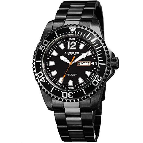 アクリボスXXIV 腕時計 メンズ 【送料無料】Akribos XXIV Men's Black Case with Black Dial on Black Stainless Steel Bracelet Watch AK947BKアクリボスXXIV 腕時計 メンズ