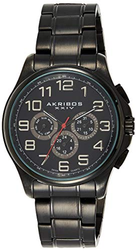 アクリボスXXIV 腕時計 メンズ 【送料無料】Akribos XXIV Men's Multifunction Watch - 3 Subdials Swiss Quartz Movement with Engraved Sunburst Dial On Stainless Steel Bracelet - AK748アクリボスXXIV 腕時計 メンズ