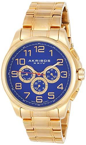 アクリボスXXIV 腕時計 メンズ 【送料無料】Akribos XXIV Men's Multifunction Watch - 3 Subdials Swiss Quartz Movement with Engraved Sunburst Dial On Stainless Steel Bracelet - AK748アクリボスXXIV 腕時計 メンズ