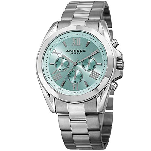 アクリボスXXIV 腕時計 レディース Akribos XXIV Women's Fashion Quartz Watch - Light Blue Sunburst Dial - Featuring a Silver Stainless Steel Bracelet - [ AKN951SSBU ]アクリボスXXIV 腕時計 レディース