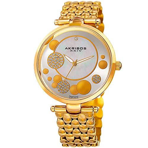 腕時計 アクリボスXXIV レディース 【送料無料】Akribos XXIV Women's Quartz Watch with Stainless-Steel Strap, Gold, 18 (Model: AK963YG)腕時計 アクリボスXXIV レディース:angelica