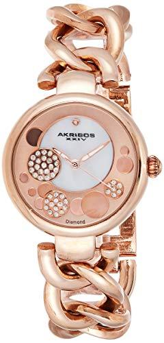 アクリボスXXIV 腕時計 レディース 【送料無料】Akribos XXIV Women's AK678RG Lady Diamond Twist Chain Link Bracelet WatchアクリボスXXIV 腕時計 レディース