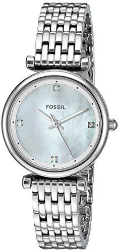 フォッシル 腕時計 レディース 【送料無料】Fossil Women's Mini Carlie Stainless Steel Quartz Watch, Color: Silver-Tone, 12(Model: ES4430)フォッシル 腕時計 レディース