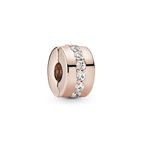 パンドラ ブレスレット アクセサリー ブランド かわいい 【送料無料】Pandora Jewelry Sparkling Row Spacer Cubic Zirconia Charm in Pandora Roseパンドラ ブレスレット アクセサリー ブランド かわいい