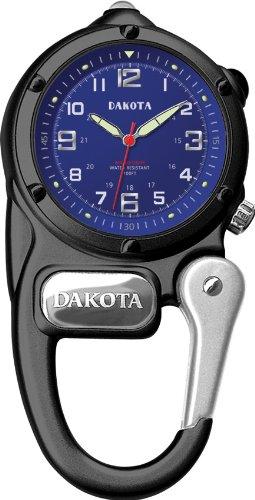 ダコタ カラビナウォッチ クリップ時計 【送料無料】Dakota Black Mini Clip Microlight Watchダコタ カラビナウォッチ クリップ時計