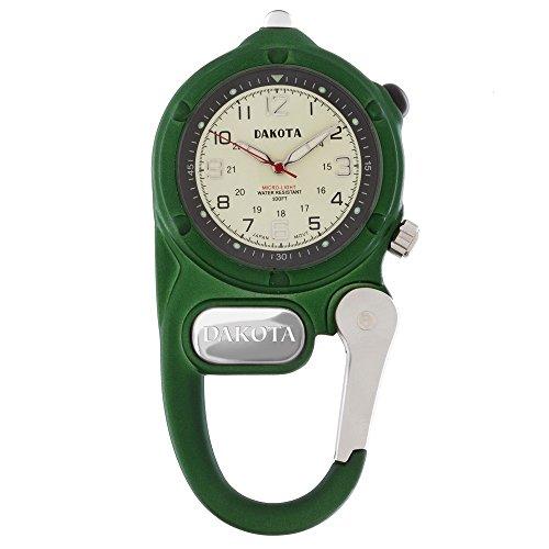 ダコタ カラビナウォッチ クリップ時計 【送料無料】Dakota Green Mini Clip Microlight Watchダコタ カラビナウォッチ クリップ時計