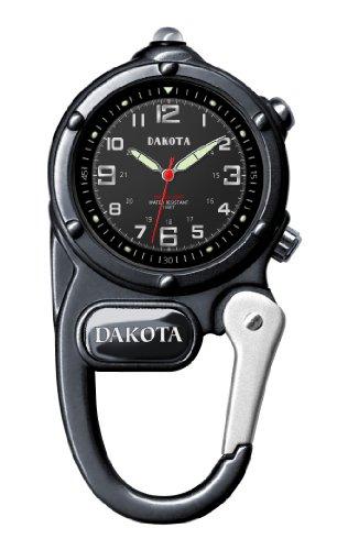 ダコタ カラビナウォッチ クリップ時計 【送料無料】Dakota Gunmetal Mini Clip Microlight Watchダコタ カラビナウォッチ クリップ時計