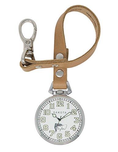 ダコタ カラビナウォッチ クリップ時計 【送料無料】Dakota Men's Japanese Quartz Watch with Calfskin Leather Strap, tan, 13.5 (Model: 31800)ダコタ カラビナウォッチ クリップ時計
