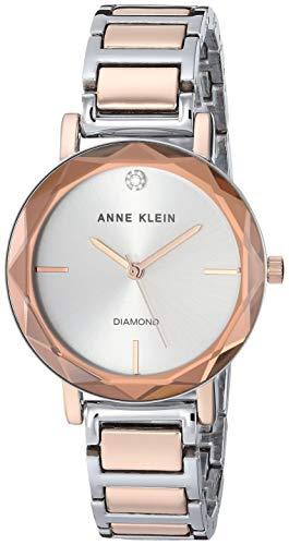 アンクライン 腕時計 レディース 【送料無料】Anne Klein Women's AK/3279SVRT Diamond-Accented Silver-Tone and Rose Gold-Tone Bracelet Watchアンクライン 腕時計 レディース