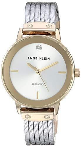 アンクライン 腕時計 レディース Anne Klein Women's AK/3221SVTT Diamond-Accented Two-Tone Bracelet Watchアンクライン 腕時計 レディース