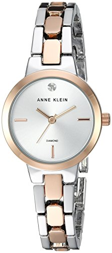 アンクライン 腕時計 レディース 【送料無料】Anne Klein Women's Diamond-Accented Silver-Tone and Rose Gold-Tone Bracelet Watchアンクライン 腕時計 レディース