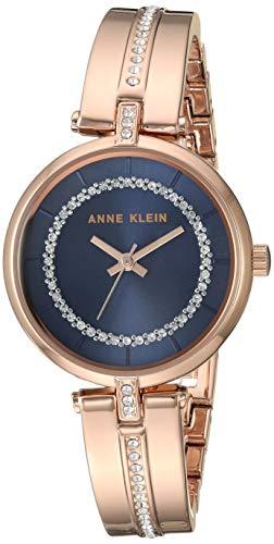 アンクライン 腕時計 レディース 【送料無料】Anne Klein Women's AK/3248NVRG Swarovski Crystal Accented Rose Gold-Tone Bangle Watchアンクライン 腕時計 レディース