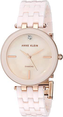 アンクライン 腕時計 レディース 【送料無料】Anne Klein Women's AK/3310LPRG Diamond-Accented Rose Gold-Tone and Light Pink Ceramic Bracelet Watchアンクライン 腕時計 レディース