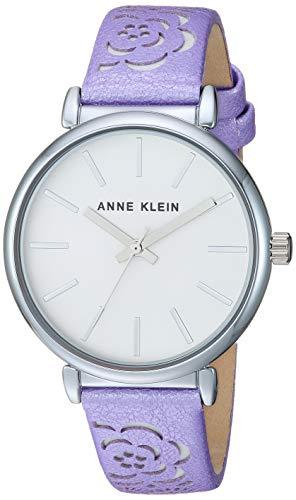 アンクライン 腕時計 レディース Anne Klein Women's Silver-Tone and Metallic Lavender Strap Watchアンクライン 腕時計 レディース