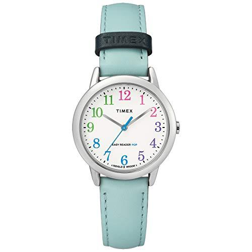 タイメックス 腕時計 レディース 【送料無料】Timex Women's TW2U29600 Easy Reader 30mm Blue/Rainbow Leather Strap Watchタイメックス 腕時計 レディース