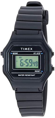 タイメックス 腕時計 レディース 【送料無料】Timex Women's TW2T48700 Classic Digital Mini Black Resin Strap Watchタイメックス 腕時計 レディース