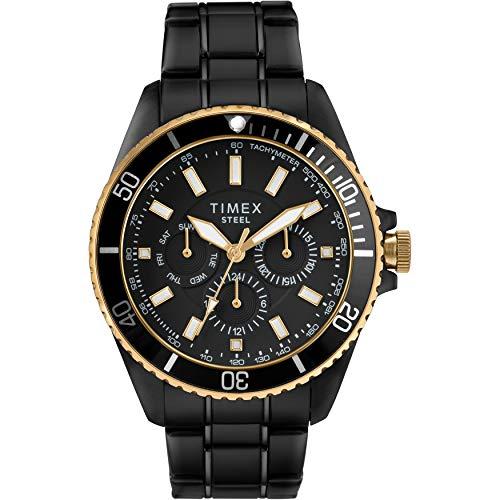 腕時計 タイメックス メンズ 【送料無料】Timex Men's Dress Analog 44mm Stainless Steel Multifunction Bracelet Watch腕時計 タイメックス メンズ