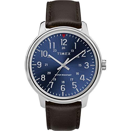 タイメックス 腕時計 メンズ 【送料無料】Timex Mens Analogue Classic Quartz Watch with Leather Strap TW2R85400タイメックス 腕時計 メンズ