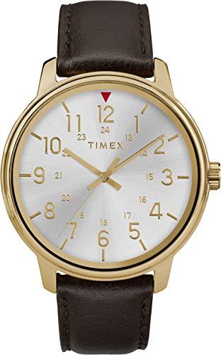 タイメックス 腕時計 メンズ 【送料無料】Timex Mens Analogue Classic Quartz Watch with Leather Strap TW2R85600タイメックス 腕時計 メンズ