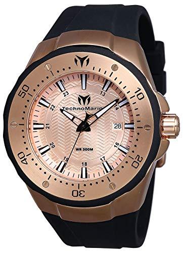 """テクノマリーン 腕時計 メンズ 【送料無料】Technomarine Men""""s Manta Sea Stainless Steel Quartz Watch with Silicone Strap, Black, 30 (Model: TM-218020)テクノマリーン 腕時計 メンズ"""