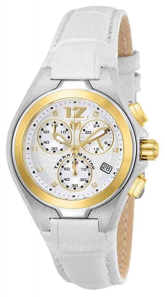 テクノマリーン 腕時計 レディース 【送料無料】Technomarine Women's Manta Stainless Steel Quartz Watch with Leather Strap, White, 19 (Model: TM-215026)テクノマリーン 腕時計 レディース