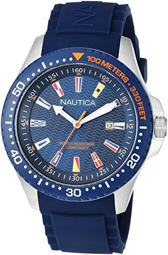 ノーティカ 腕時計 メンズ 【送料無料】Nautica Men's Jones Beach Collection Japanese-Quartz Watch with Silicone Strap, Blue, 21.5 (Model: NAPJBC002)ノーティカ 腕時計 メンズ
