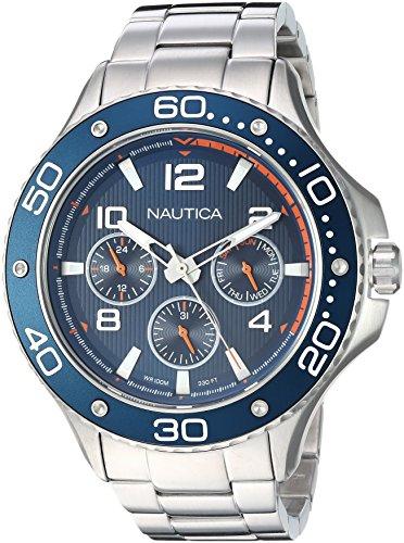 ノーティカ 腕時計 メンズ 【送料無料】Nautica Men's PIER 25 Collection Japanese-Quartz Watch with Stainless-Steel Strap, Silver, 20 (Model: NAPP25006)ノーティカ 腕時計 メンズ