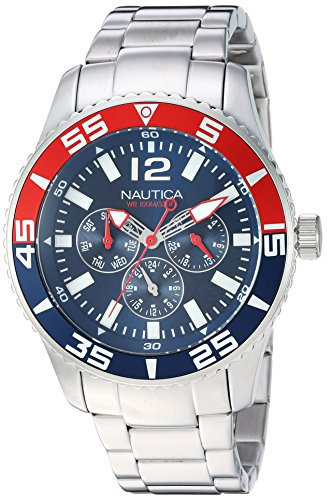 "ノーティカ 腕時計 メンズ 【送料無料】Nautica Men""s White Cap Japanese-Quartz Watch with Stainless-Steel Strap, Blue, 20 (Model: NAPWHC002)ノーティカ 腕時計 メンズ"
