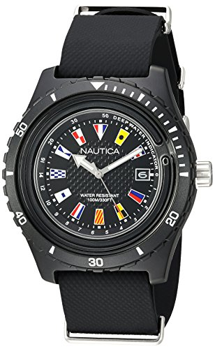 腕時計 ノーティカ メンズ 【送料無料】Nautica Men's 'Surfside' Quartz Resin and Silicone Casual Watch, Color:Black (Model: NAPSRF001)腕時計 ノーティカ メンズ