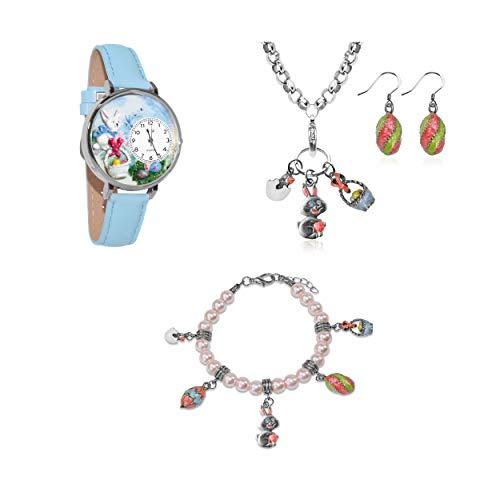 気まぐれな腕時計 かわいい プレゼント クリスマス ユニセックス 【送料無料】Whimsical Gifts Holiday 4-Piece Jewelry Sets (Easter, Silver)気まぐれな腕時計 かわいい プレゼント クリスマス ユニセックス