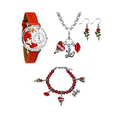 気まぐれな腕時計 かわいい プレゼント クリスマス ユニセックス 【送料無料】Whimsical Gifts Holiday 4-Piece Jewelry Sets (Valentine's Day, Silver)気まぐれな腕時計 かわいい プレゼント クリスマス ユニセックス
