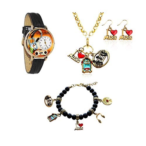気まぐれな腕時計 かわいい プレゼント クリスマス ユニセックス 【送料無料】Whimsical Gifts Special Interest Jewelry Sets (Music Lover, Gold)気まぐれな腕時計 かわいい プレゼント クリスマス ユニセックス