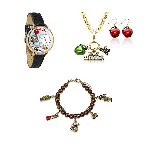 気まぐれな腕時計 かわいい プレゼント クリスマス ユニセックス 【送料無料】Whimsical Gifts Profession Jewelry Sets (Teacher, Gold)気まぐれな腕時計 かわいい プレゼント クリスマス ユニセックス